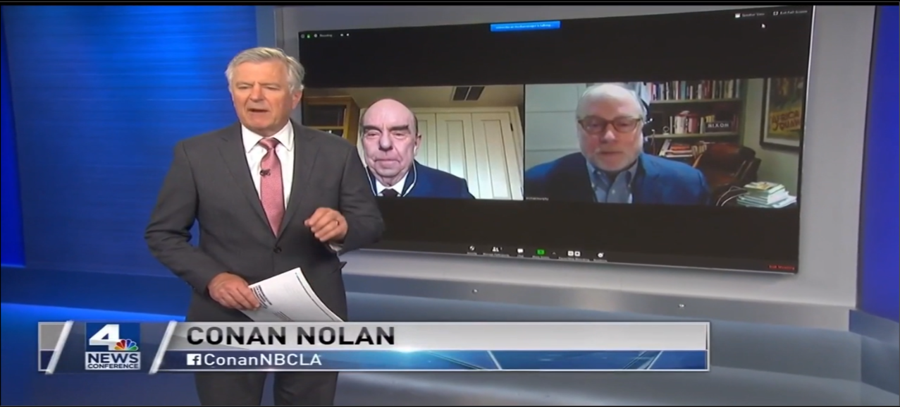 NBC4's Conan Nolan talked to Center Director Bob Shrum and Co-Director Mike Murphy. (Source: NBC Los Angeles)