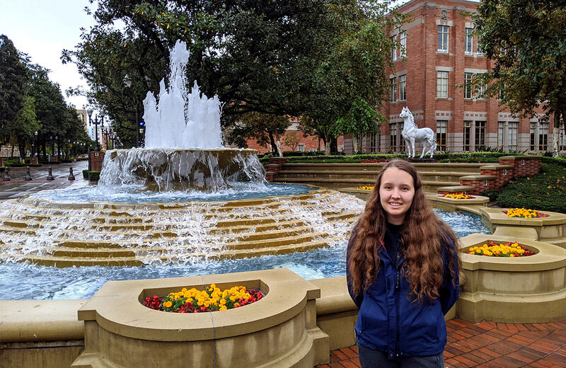 Political science major Isabella O'Brien has been working on ways to counter the impact of climate change on our oceans since she was in middle school. (Photo courtesy: Isabella O'Brien)