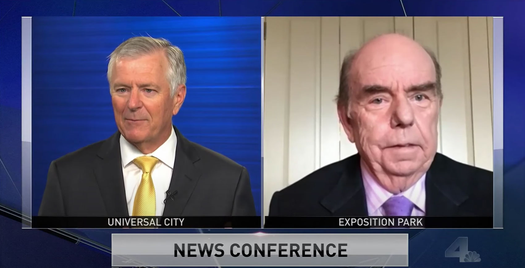 "Center Director Bob Shrum joined NBC Los Angeles's Conan Nolan on ""NewsConference"" to discuss Biden's vice president short list. (Source: NBC Los Angeles)"