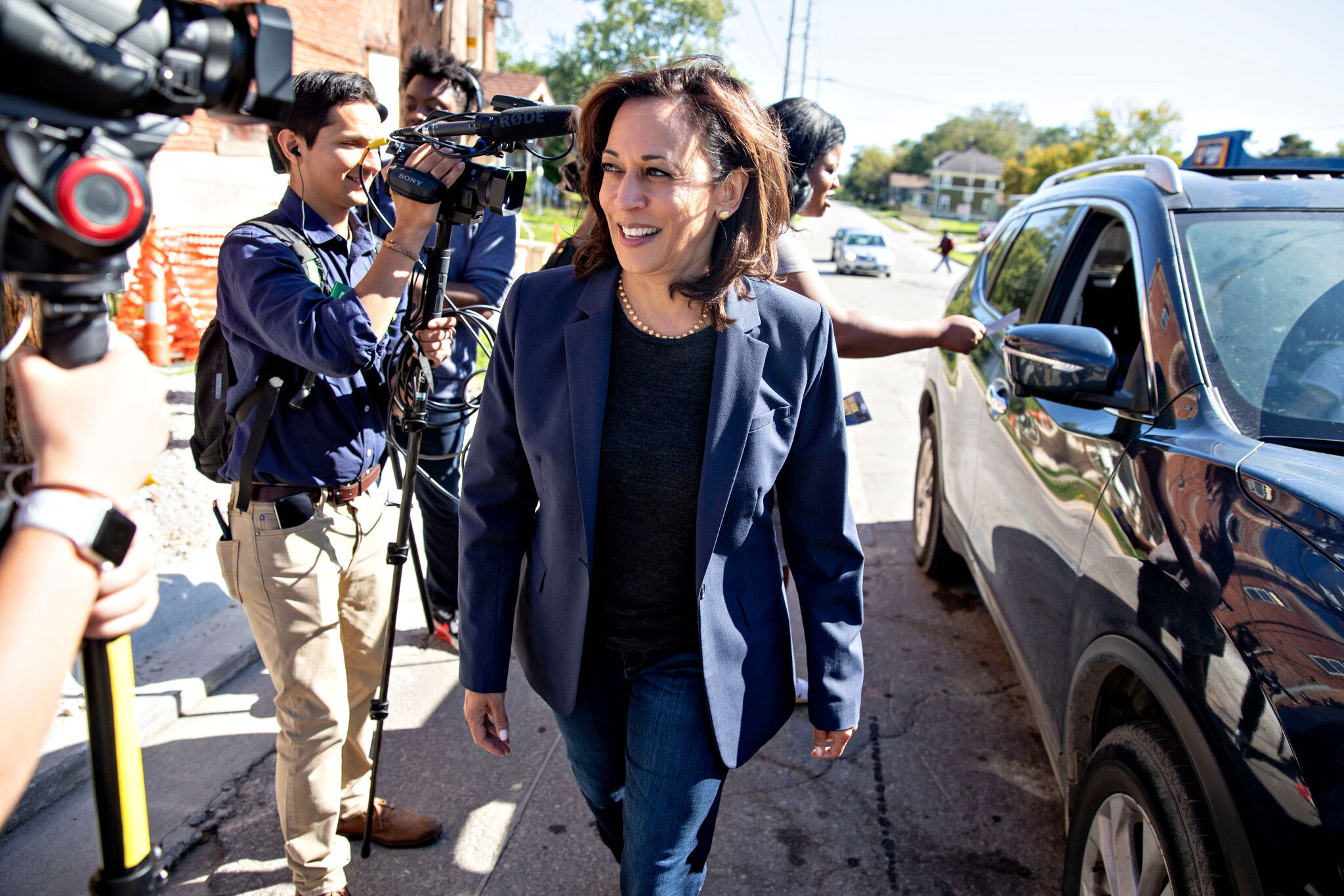 Democrats hope that the selection of Senator Kamala Harris will attract moderates and Black voters in swing states. (Credit: Daniel Acker, The New York Times)